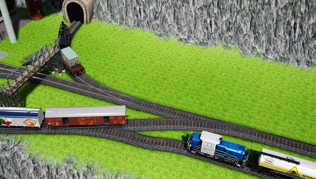 add engines waggons overpass