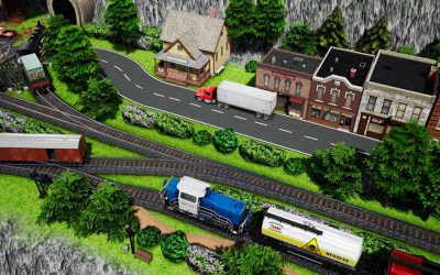 5 steps to build scenery with trains and truck